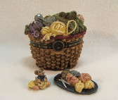 Boyds  Treasure Box  ~  FUZZFACE'S YARN  BASKET  *  NEW From Our Retail Shop