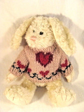 """Boyd's  ~  HOPKINS ... 9"""" BUNNY w/Sweater  *  MINT CONDITION w/TAGS"""