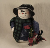 Crazy Mountain  ~  BAG SNOWMAN ... Blue Sweater w/Scarf & Hat  *  NEW From Our Shop