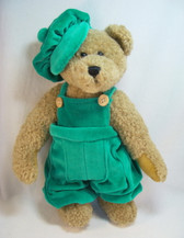 "Boyd's  ~  PERCEVAL ... 10"" Bear w/Green Velveteen Outfit *  NEW From Our Retail Shop"