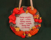 SIGNS OF TIME  ~  HAVING SOMEPLACE TO GO  *Fall Plaque*  NEW