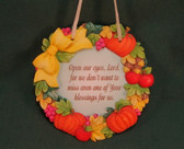 SIGNS OF TIME ~ OPEN OUR EYES LORD ... BLESSINGS  *Fall Plaque* NEW
