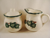 Noel  ~  SUGAR & CREAMER ... Green Ivy Design  *  NEW From Our Retail Shop