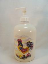 Noel  ~  LOTION/SOAP DISPENSER ... Rooster Design  *  NEW From Shop