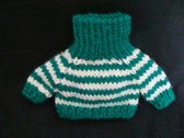 KNIT SWEATER ... Green & White Stripe * For Plush or Doll   * NWT