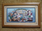 GOD BLESS OUR HOME ... Bears & Rabbits  *  Framed & Matted Picture