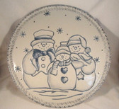 "Enesco  ~  LARGE SNOWMAN PLATTER ... 12""  *  NEW From Our Retail Shop"