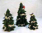 Enesco  ~  FOREST FROLIC EVERGREEN TREES ... Set of 3  *  NIB