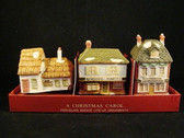 Department 56  ~  CHRISTMAS  CAROL  COTTAGES ... Set of 3 Ornaments  *NIB*  Rare Find