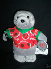 COCA COLA  SEAL IN SOCCER SHIRT~ Beanie Bag Plush * MWT