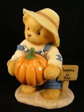 Cherished Teddies ~ ED With PUMPKIN & CARVING SET  NIB