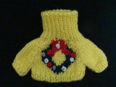 YELLOW SM. KNIT SWEATER ... For Plush or Dolls  *  NWT