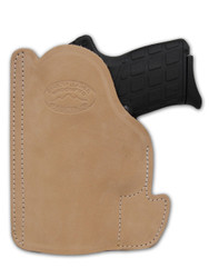 New Natural Tan Leather Concealment Pocket Gun Holster for Compact 9mm 40 45 Pistols (PO22NT)