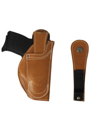 New Barsony 360Carry Tan Leather Ambidextrous 12 Option OWB IWB C/D Holster for 380 Ultra Compact 9mm 40 45 (#360C-42ST)