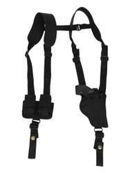 "New Vertical Concealment Shoulder Holster w/ Speed-loader Pouch for 2"" Snub Nose .38 .357 Revolvers (#SL53-2VR)"