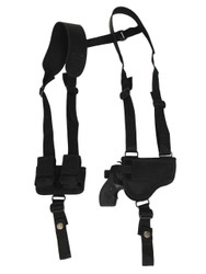 """New Horizontal Concealment Shoulder Holster w/ Speed-loader Pouch for 2"""" Snub Nose .38 .357 Revolvers (#SL53-2HOR)"""