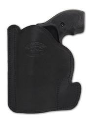 "New Black Leather Concealment Pocket Gun Holster for 2"", Snub-Nose .38 .357 Revolvers (#PO2BL)"