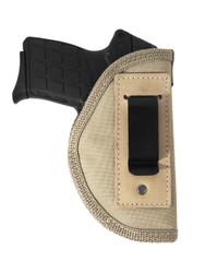 New Desert Sand Inside the Waistband Belt Holster for Small 380, Ultra Compact 9mm 40 45 Pistols (#67-4DS)
