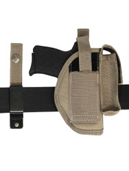 New Barsony Desert Sand 360Carry 8 Option OWB Cross Draw Holster w/ Mag Pouch for 380 Ultra Compact 9mm 40 45 (#360C-42-2DS)