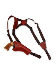 """leather shoulder holster for 4"""" revolvers"""