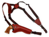 "leather shoulder holster for 6"" revolvers"
