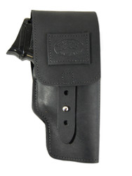New Black Leather Flap Gun Holster for Compact 9mm 40 45 Pistols (202CBL)