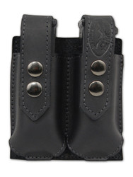 New Black Leather Double Magazine Pouch (#BLMAG2)