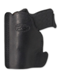 New Black Leather Gun Concealment Pocket Holster for Compact 9mm 40 45 Pistols (#PO22BL)
