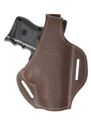 New Brown Leather Pancake Gun Holster for Compact Sub-Compact 9mm 40 45 Pistols (#59BR)