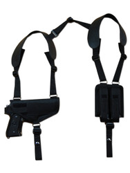 New Concealment Shoulder Gun Holster with Double Magazine Pouch for Full Size 9mm 40 45 Pistols (#NY32)
