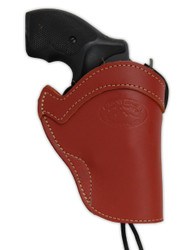 "New Burgundy Leather Western Style Gun Holster for 2"" Snub Nose 22 38 357 41 44 Revolvers (#WN2BU)"
