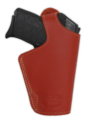 New Burgundy Leather OWB Side Gun Holster for Small 380, Ultra-Compact 9mm 40 45 Pistols (#13BU)