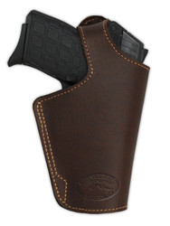 New Brown Leather OWB Side Gun Holster for Small 380, Ultra-Compact 9mm 40 45 Pistols (#13BR)