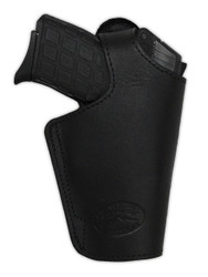 New Black Leather Outside the Waistband (OWB) Side Gun Holster for 380, Ultra-Compact 9mm 40 45 Pistols (#13BL)