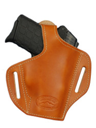New Saddle Tan Leather Pancake Gun Holster for Small 380, Ultra Compact 9mm 40 Pistols (#57ST)