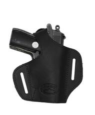 New Black Leather Pancake Gun Holster for Mini/Pocket 22 25 32 380 Pistols (#57sBL)