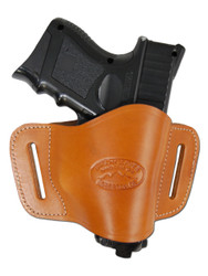 New Tan Leather Belt Quick Slide Gun Holster for Compact Sub-Compact 9mm 40 45 Pistols (#108CST)
