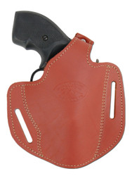 "New Burgundy Leather Pancake Gun Holster for .22 .38 .357 2"" Revolvers (#54BU)"