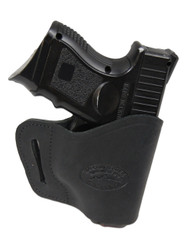 New Black Leather Yaqui Gun Holster for Compact Sub-Compact 9mm 40 45 Pistols (#20BL)