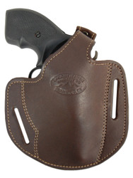 "New Brown Leather Pancake Gun Holster for 2"" .22 .38 .357 Revolvers (#54BR)"