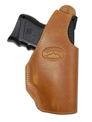 New Tan Leather OWB Side Gun Holster for Compact Sub-Compact 9mm 40 45 Pistols (#16ST)