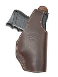New Brown Leather OWB Gun Holster for Compact Sub-Compact 9mm 40 45 (#16BR)