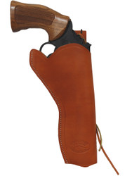 "New Tan Leather 49er Style Outside the Waistband (OWB) Gun Holster for  6"" Revolvers (#446ST)"