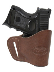 New Brown Leather Yaqui Gun Holster for Compact Sub-Compact 9mm 40 45 Pistols (#20BR)