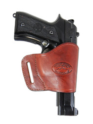 New Burgundy Leather Yaqui Gun Holster for Full Size 9mm 40 45 Pistols (#21BU)