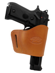 New Saddle Tan Leather Yaqui Gun Holster for Full Size 9mm 40 45 Pistols (#21ST)