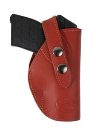 New Burgundy Leather OWB Belt Gun Holster for .380, Ultra-Compact 9mm 40 45 Pistols (#12BU)