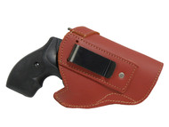"New Burgundy Leather Inside the Waistband Gun Holster for 2"", Snub Nose .38 .357 Revolvers (#68-8BU)"