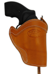 "New Saddle Tan Leather Western Style Gun Holster for 2"" Snub Nose 22 38 357 41 44 Revolvers (#WN2ST)"