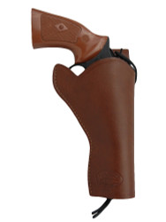 "New Brown Leather 49er Style Gun Holster for 4"" Revolvers (#444BR)"